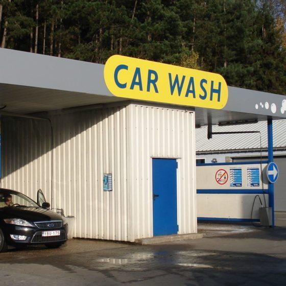 Panneaux éclairé car wash